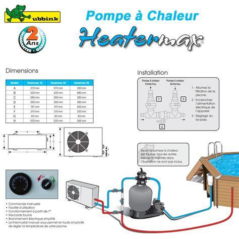 Pompes A Chaleur Piscine by Pompe 224 Chaleur Piscine Heatermax 15 7504629 Ubbink P