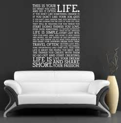 Wall Quote Stickers Bedroom 50 Beautiful Designs Of Wall Stickers Wall Art Decals