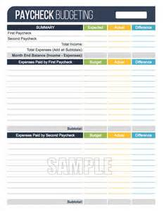 Paycheck To Paycheck Budget Spreadsheet Paycheck Budgeting Worksheet Editable Personal Finance