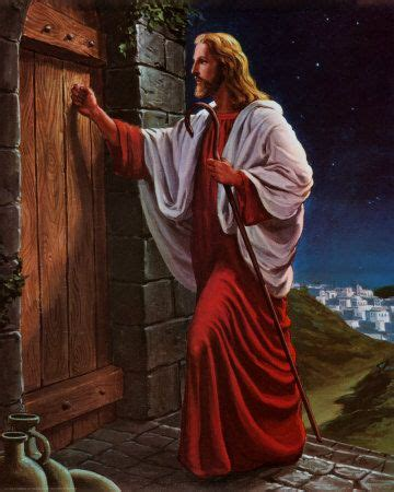I Stand At The Door by Behold I Stand At The Door And Knock Jesus Painted