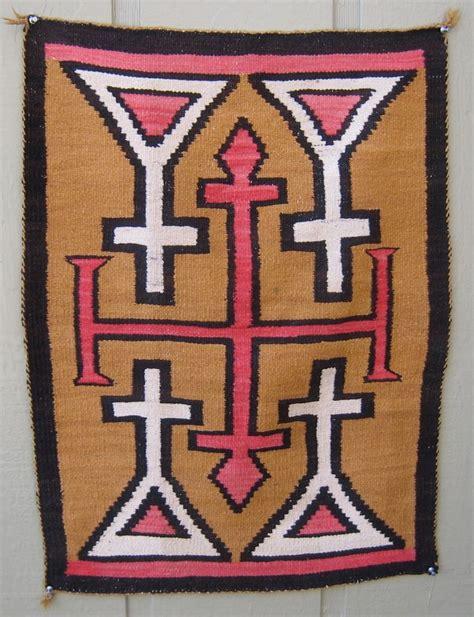 Vintage Navajo Rug by Vintage Navajo Rug W Crosses 1920 1930 586 Ebay