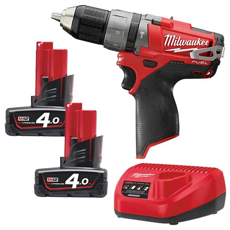 Milwaukee M12 Cpd 402c Fuel Percussion Drill Driver milwaukee m12cpd 402c m12 fuel compact percussion drill