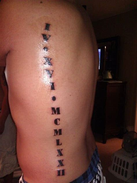 roman numeral tattoo on ribs 20 numerals side rib tattoos