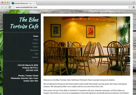 design menu godaddy let s eat the restaurant website builder