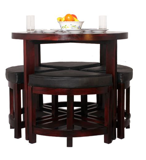 black forest contemporary space saving dining set by mudra