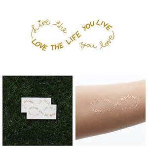 Infinity Sign Text Obvious Metallic Gold Infinity Sign Text Temporary