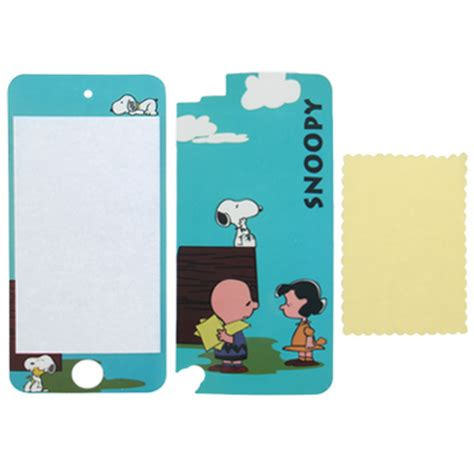 2 in 1 snoopy pattern protective skin sticker ipod touch