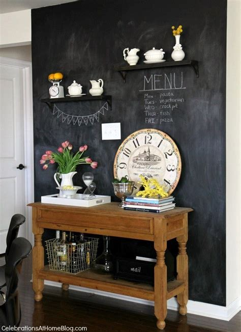 chalkboard in kitchen ideas our home kitchen tour celebrations at home