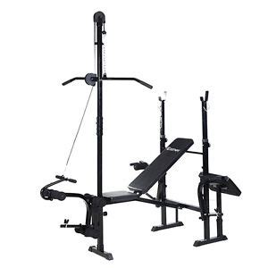 flat bench with rack workout bench ebay