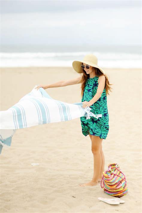 watercolor dress tutorial diy friday pleated palm leaf print beach dress sewing