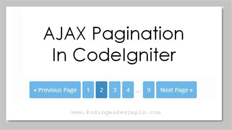 tutorial codeigniter ajax kodingmadesimple programming blog php codeigniter