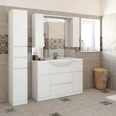 mobiletto bagno leroy merlin mobile bagno elise bianco l 120 cm prezzi e offerte