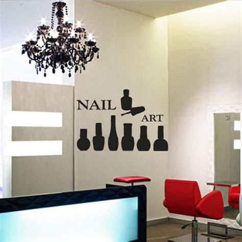 wall sticker store fashion nail bar collage vinyl wall decal nail salon