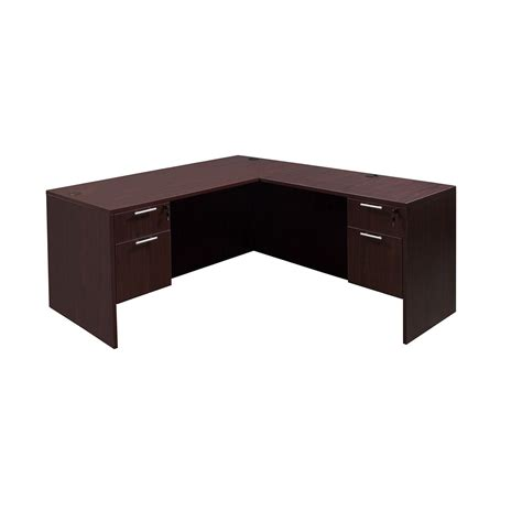 mahogany desk l shaped everyday 30 215 60 20 215 42 laminate l shape desk mahogany