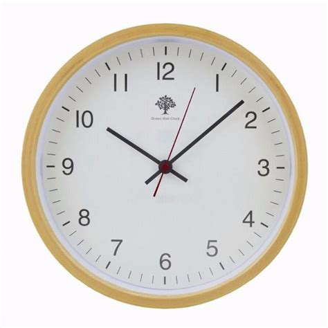 Amazon Com Hippih Silent Wall Clock Wood Non Ticking Digital Quiet | brand hippih new silent non ticking wall clock wood 8