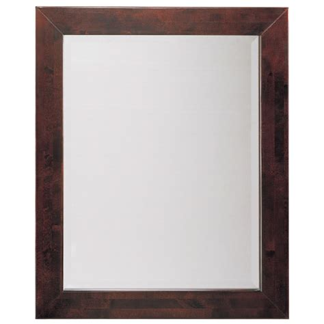 espresso mirror bathroom shop allen roth espresso rectangular bathroom mirror at