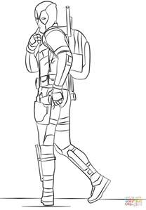 Deadpool 2016 Coloring Page Free Printable Coloring Pages Coloring Pages Of Deadpool