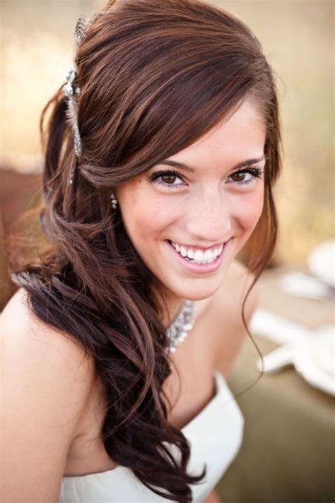 Wedding Hairstyles Up To The Side by Wedding Hairstyles Half Up To The Side Fade Haircut