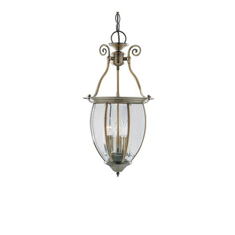 Period Pendant Lighting Period Style Lantern On A Chain In Antique Brass