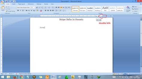 membuat daftar gambar microsoft word cara membuat daftar isi di microsoft word secara otomatis