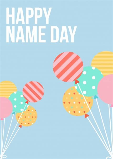Name Day Card Template 25 best ideas about happy name day on list of