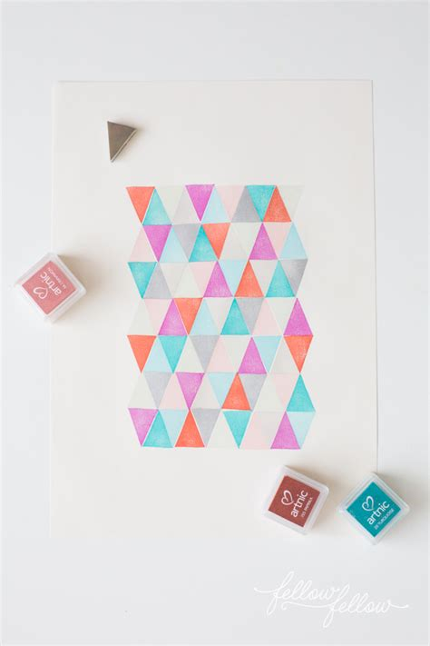 geometric pattern diy diy geometric art with simple sts how about orange