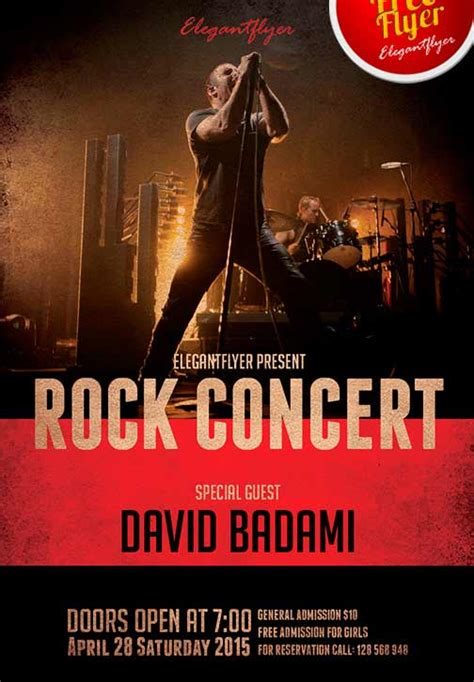 Download The Free Rock Concert Free Flyer Template For Photoshop Concert Flyer Template