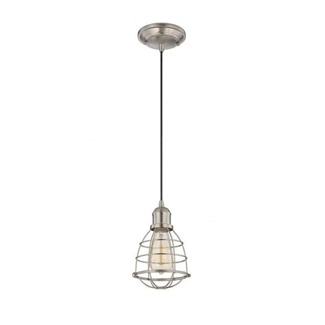 Nickel Mini Pendant Light Illumine Haslen 1 Light Satin Nickel Mini Pendant Cli Sh0243752 The Home Depot
