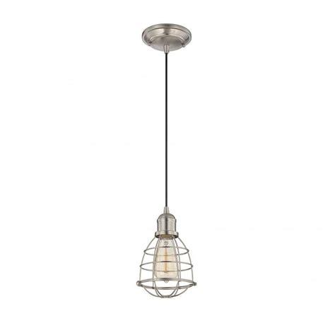 Nickel Mini Pendant Light Illumine Haslen 1 Light Satin Nickel Mini Pendant Cli Sh0243752 The Home Depot