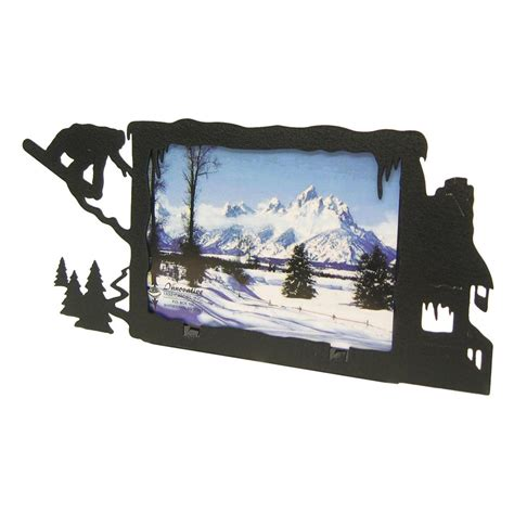 Cabin Picture Frames by Snowboarder Lodge 3x5 Horizontal Picture Frame