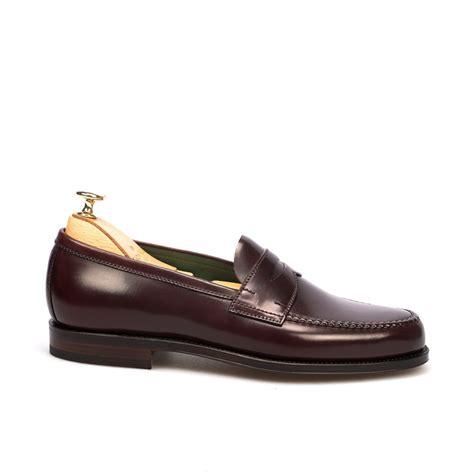 cordovan loafer cordovan loafers in burgundy carmina