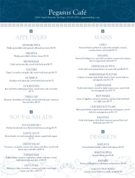 greek restaurant menu greek menu