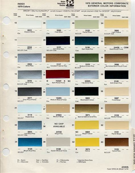 gm color chips color chip selection auto paint colors codes colors chips