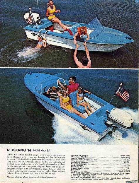 boat brands that start with d 1965 crestliner mustang vintage mustang pinterest