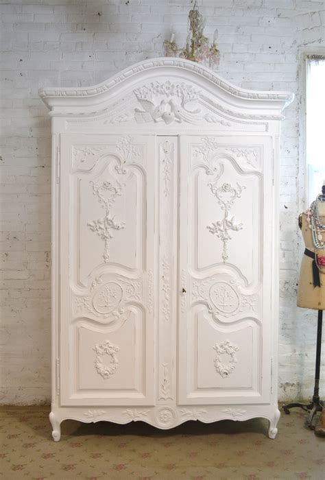 shabby chic armoire painted cottage chic shabby armoire