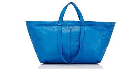 Ikea Frakta Kantong Belanja Ukuran Besar Warna Biru balenciaga luncurkan tas rp 28 juta mirip tas plastik ikea kompas