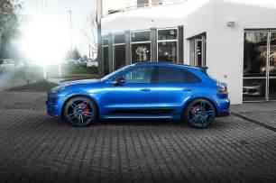 Porsche Macan Blue Color Techart Porsche Macan Looks Great In Blue