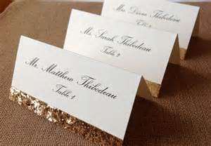 wedding placement cards gold glitter place cards wedding cards