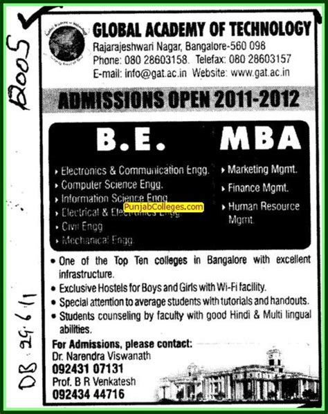 Mba In Food Science And Technology In India by Global Academy Of Technology Bengaluru Bangalore Karnataka