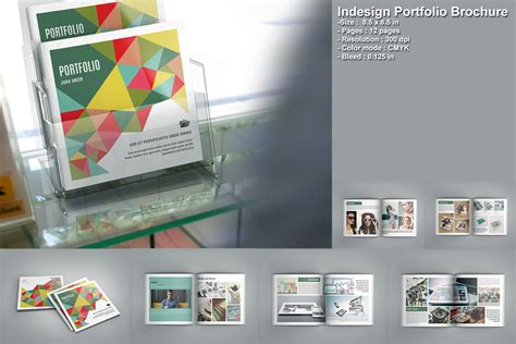 portfolio brochure template indesign portfolio brochure v207 brochure templates on