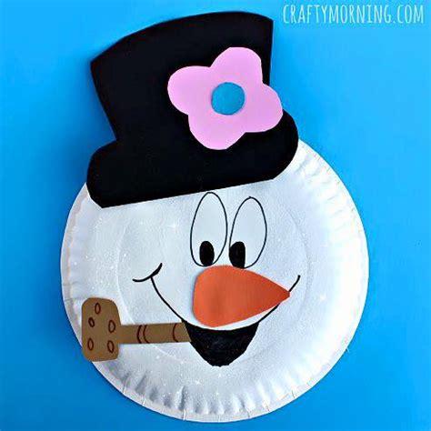 snowman arts and crafts for preschool kindergarten 5