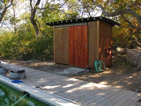 pool equipment shed landscape traditional with