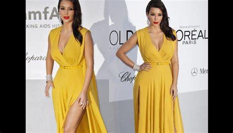 kim kardashian con un vestido de gucci morado y naranja los fotos las aberturas y los escotes m 225 s sexys de la