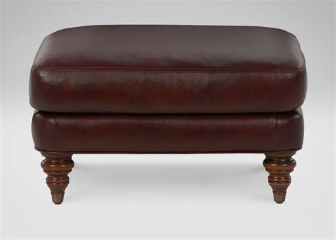 ethan allen ottoman leather hyde leather ottoman ottomans benches