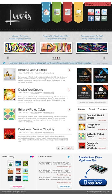 css templates for library website one page website template psd website templates on
