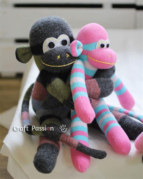 sock animals sock monkey free sewing pattern craft