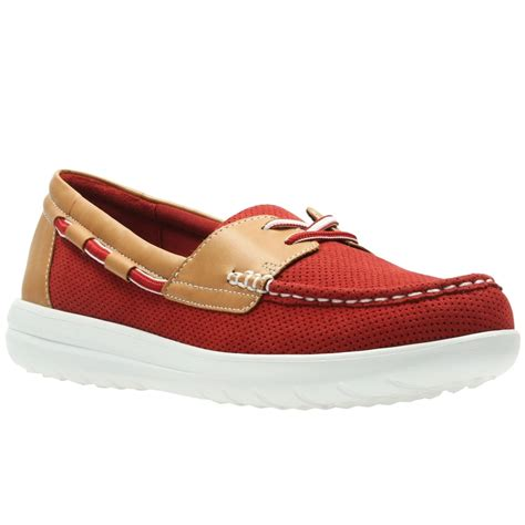 clarks jocolin vista womens boat shoes from