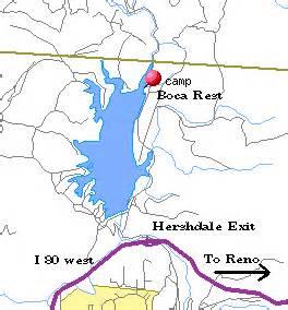 california rest area map boca resevoir boca rest cground
