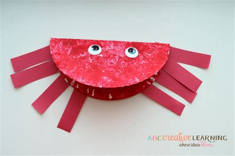 crab paper plate craft crab crafts for toddlers