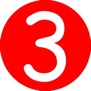 3 Red Rounded With Number 3 Clip Art At Clker Com Vector